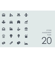 Set of amusement park icons vector image