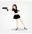 shooting girl image vector image vector image