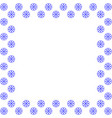 snowflake frame 3010 vector image vector image