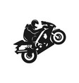 sports motorcycle silhouette logo vector image vector image