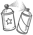 Spray paint cans vector image vector image
