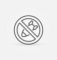 stop bombing linear icon - no war concept vector image
