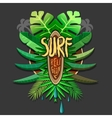 Summer artwork surf rerigion - surfing vector image vector image
