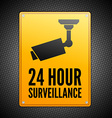 Surveillance sign vector image
