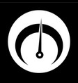 tachometer icon design vector image