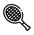tennis racket icon outline vector image vector image