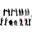 tradesmen silhouettes vector image vector image