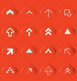 Transparent Arrows Set on Red Background vector image vector image