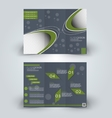 Trifold brochure design template vector image