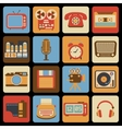 Vintage gadget icons vector image
