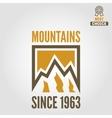 Vintage logo emblem label print or logotype vector image vector image