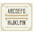 Vintage Retro Font Handcrafted Decoration Font vector image vector image
