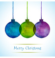 Watercolor Hand Drawn Christmas Balls vector image