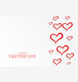 white background with red hearts pattern vector image