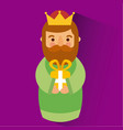 wise king christmas celebration bring presents to vector image vector image