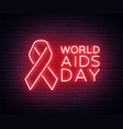 world aids day december 1 red tape for hiv vector image