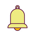 yellow bell ornament decoration icon vector image vector image