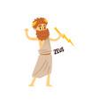 zeus supreme olympian greek god ancient greece vector image
