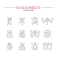 Bugs Icon Collection vector image