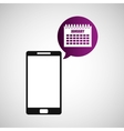 smartphone and calendar application vector image