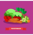 Vegetable food products in vector image