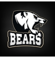 White Bear Sports team mascot vector image