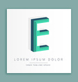 3d abstract style logo with letter e