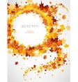 Abstract background with autumnal leaves vector image vector image