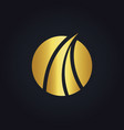 abstract gold loop round business logo vector image vector image
