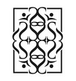 abstract rectangle logo vector image vector image