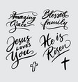 amazing grace and jesus loves you handwriting call vector image vector image