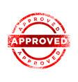 approved stamp red color symbol design vector image