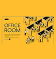 business company office isometric website vector image vector image