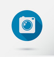 camera icon with long shadow flat style vector image vector image