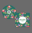 cd cover design editable templates floral vector image