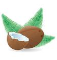 coconut 04 vector image vector image