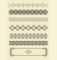 collection of ornamental rule lines in different vector image