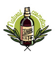 color vintage natural cosmetics emblem vector image vector image