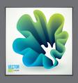 cool gradient shape futuristic design 3d flower vector image vector image