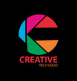 creative tech logo vector image