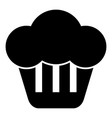 cupcake icon black color flat style simple image vector image