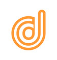 custom letter d rounded stripe bold symbol design vector image