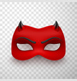 devil mask scary mysterious monster costume vector image vector image