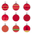 different designs christmas baubles ornaments vector image vector image
