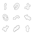 Direction icons set outline style vector image vector image