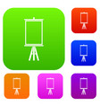 easel set color collection vector image vector image