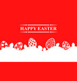 easter greeting banner vector image vector image