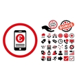 Euro Mobile Banking Flat Icon with Bonus vector image vector image