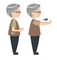 Exercise posture for elders vector image vector image