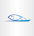fish jump from water icon vector image vector image